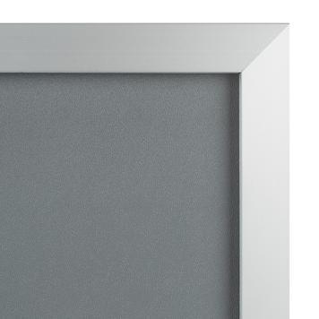 """Zaklapávací rám """"Straight"""", 32 mm profil, stříbrně eloxovaný, zkosené rohy"""