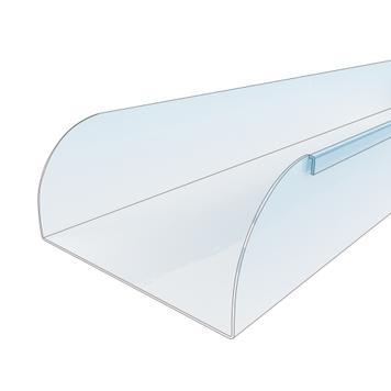 Regálový oddělovač se spojovací lamelou