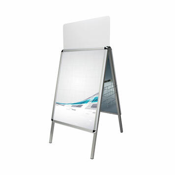 Venkovní plakátový stojan, profil 32 mm s kulatými nebo zkosenými rohy