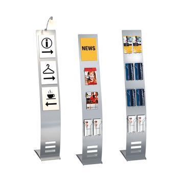 """Drátěný zásobník na letáky pro """"Techny"""", informační sloupek, """"Metropol"""" a """"Counter"""""""