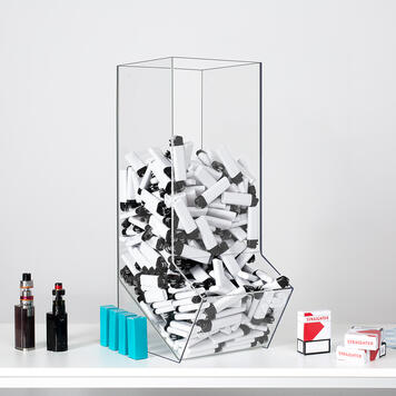 Zásobník s výsypným otvorem z akrylátu