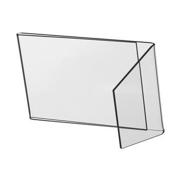 Zkosený L-stojánek 100 x 150 mm využitelný na výšku i na šířku, se zkoseným podstavcem