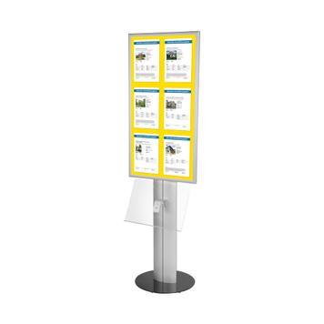"""Stojan na plakáty s LED osvětlením """"Score"""""""