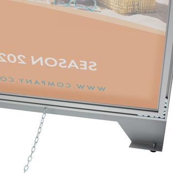 Reklamní poutač s textilním napínacím rámem